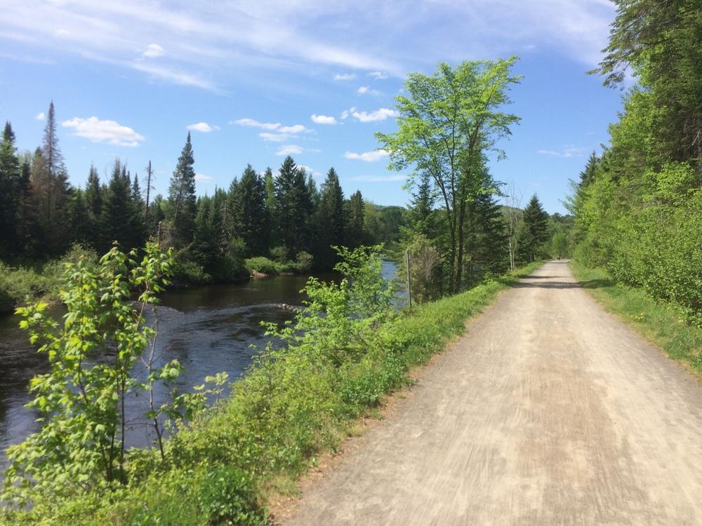 The long dirt bike path