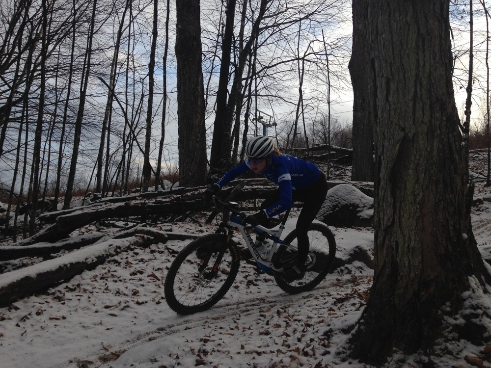 Riding in the trails last fall after the first snow
