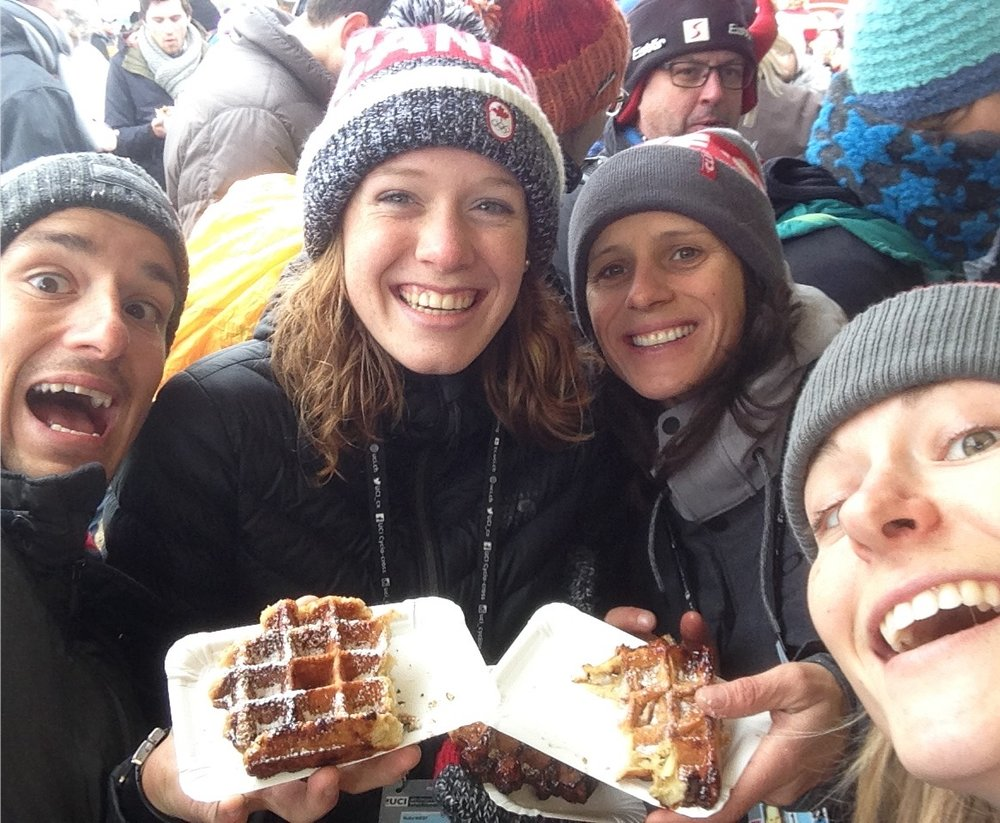 Post race waffle with my favorite extra festivers!