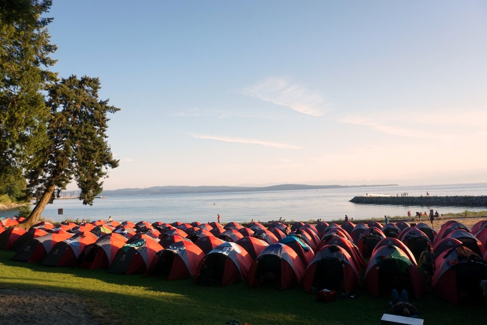 BCBR tent city at Powell River