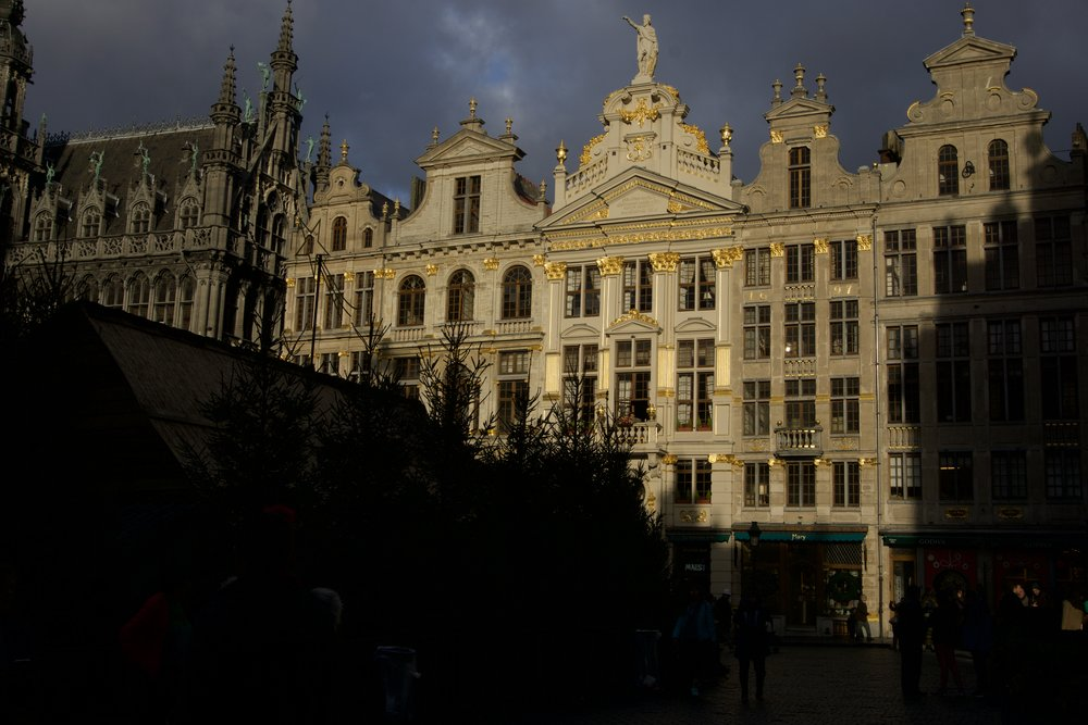 I don't know anything about architecture, but the buildings in Bruxelles are pretty stunning. It's insipiring to see the details in the buildings and think about the effort the artist put into making them, hundreds of years ago.