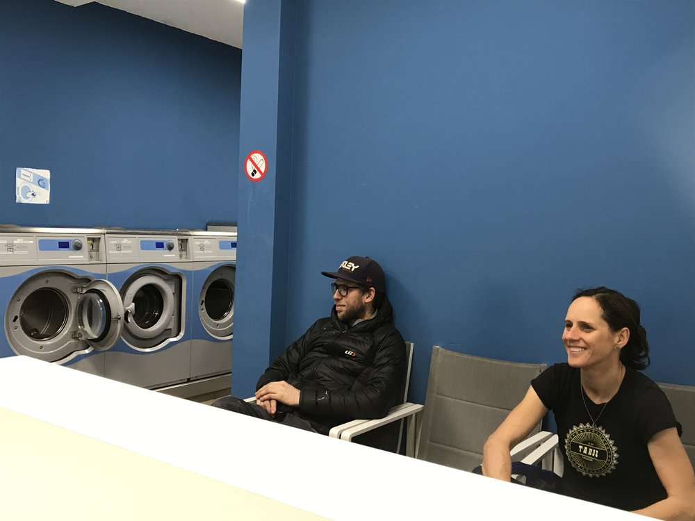 Waiting for the dryer.