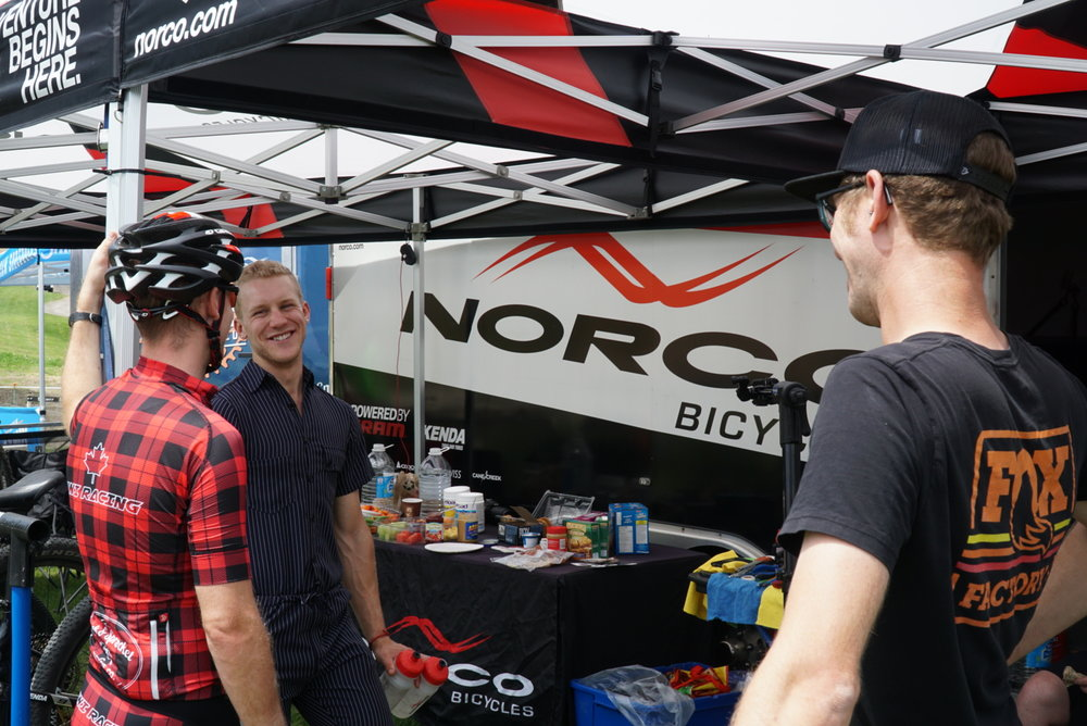 No matter how the race goes, it's always fun to hang out with the MTB community!