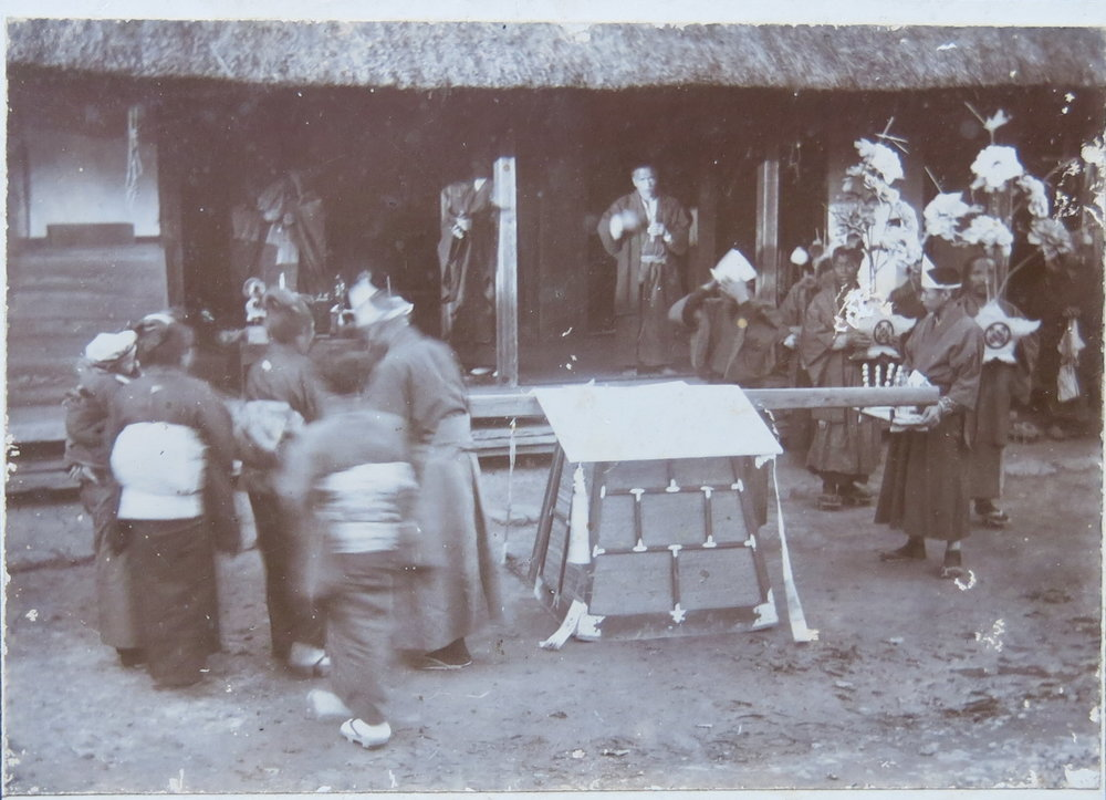 Funeral. Chino Sato (Zenkichi's mother). Kurodasuke, Japan. 1911