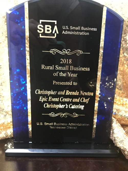 2018 RURAL SMALL BUSINESS OF THE YEAR - We are so very honored to receive this award from the SBA for the state of Tennessee!
