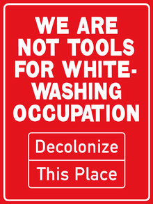 Poster by Decolonize This Place