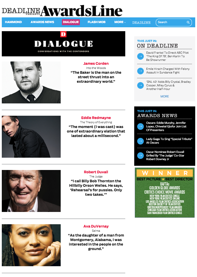 Dialogue Landing Page