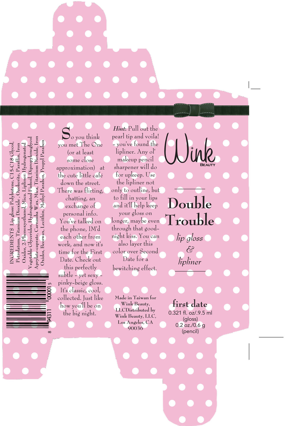 Double Trouble box design and copy