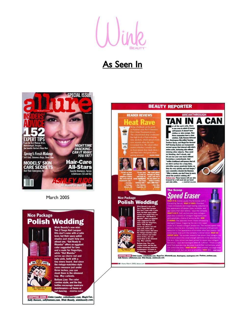 Allure magazine press mention