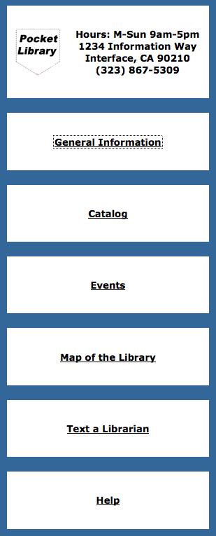 Pocket Library digital prototype