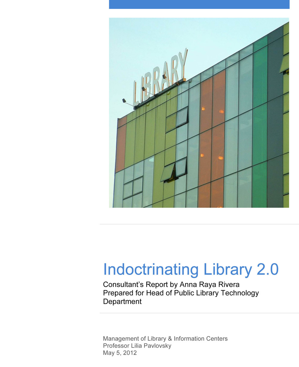 Library management consultant's report