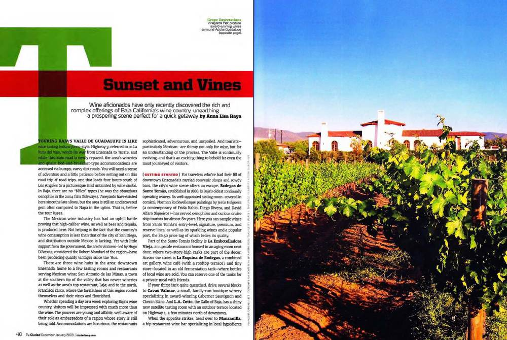 Baja wine travel story
