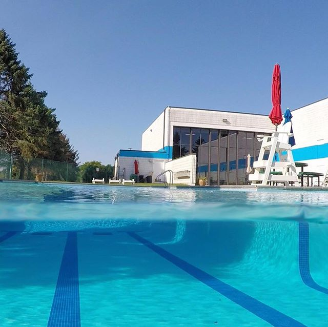 Outdoor pool closes Tuesday! Take advantage and get one last splash in this weekend! #fallisintheair #holidayweekend