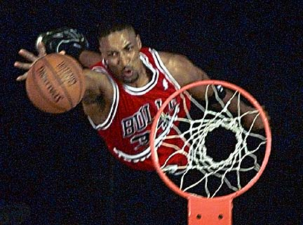 Actual photo of Scottie Pippen that I saved on Feb. 16, 1998.