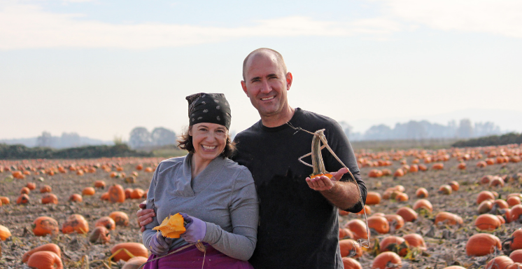 Daria and Matt in the pumpkin patch