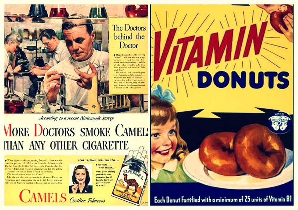 Years ago tobacco companies and industrial food manufacturers tried to convince us that cigs and donuts were healthy for us. The food companies still do! My concerns regarding the claims made by CSPMA are that  they are obviously going to look out for #1 - themselves. Can we really trust their reports? At least some of the claims seem to be backed.. Photo credits (from l to r)  to Stanford School of Medicine ( here ) and  hoaxes.org