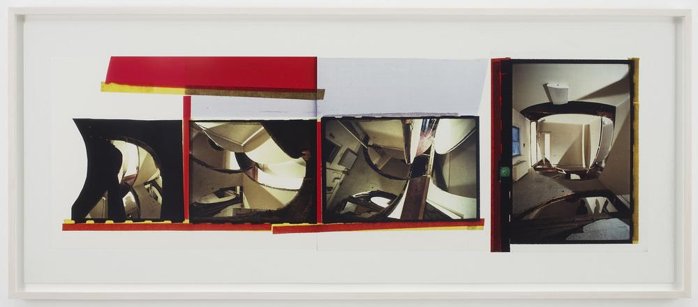 """Gordon Matta-Clark. """"Circus,"""" 1978 silver dye bleach print (Cibachrome), 29 1/4″ x 73 1/4″"""