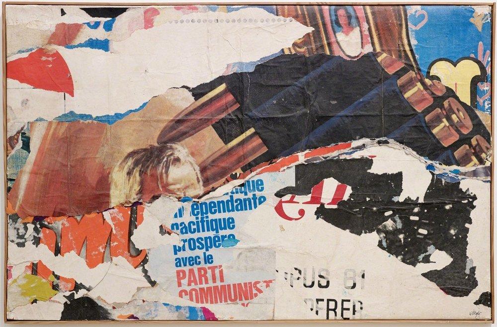 """Jacques Villeglé, """"122 rue du Temple (Juillet 1968),"""" 1968. Décollage, 24 × 36 1/4 in /Diane Rosenstein (#753)"""