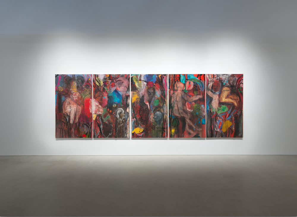 "Jim Dine, Installation view of ""Looking at the Present: Recent Works by Jim Dine"" at Gray Warehouse, Spring 2017"