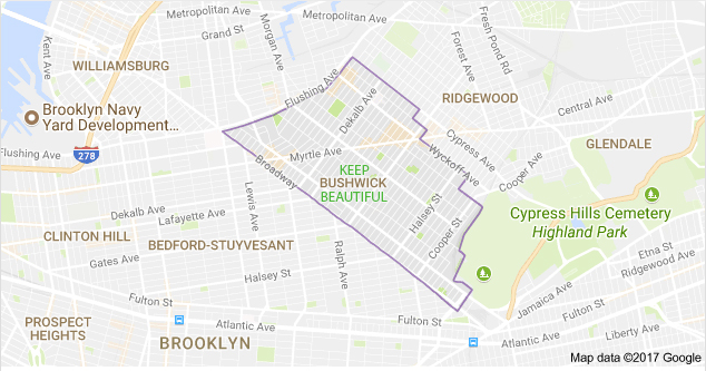 Bushwick is a neighborhood in the northern part of the New York City borough of Brooklyn.