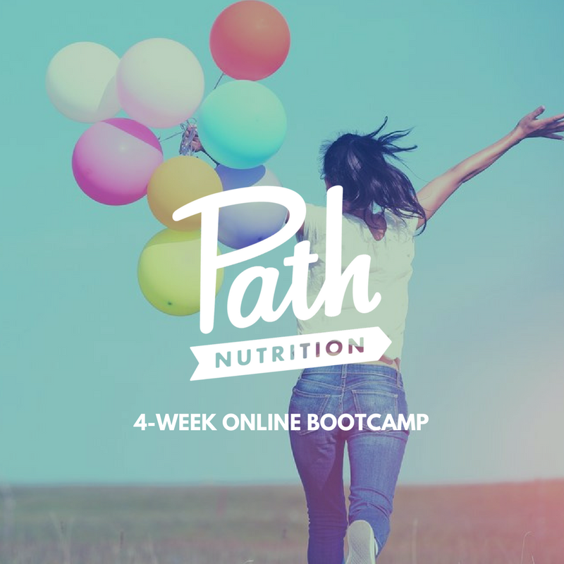 JOIN BOOTCAMP - Dive deep into your relationship with food and weight. Learn about basic nutrition and what to eat for optimal health in an on-line group setting. Understand how your body works and the get the tools you need to support it. Finally, overcome food challenges & live your most vibrant life!