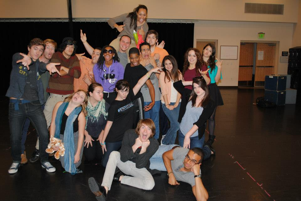 Nicole and her fellow BFA Acting classmates