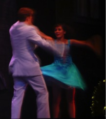 "Nicole dancing in ""Footloose"""