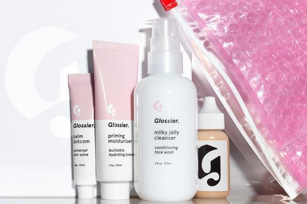 The Glossier Phase 1 skin care set.