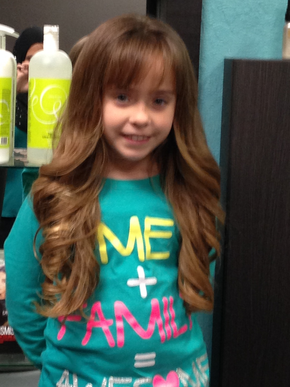 Children's Blowdry and Flat Iron Style
