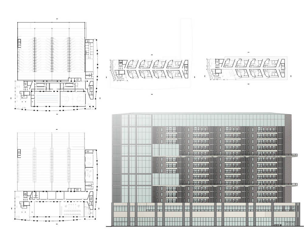 Century Uptown Garden floor plans and elevation