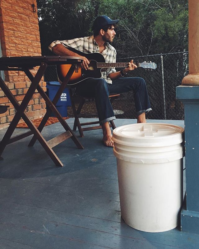Spotted: one of our SOS buckets hanging out on a front porch. We're so thankful for these dreamy October evenings! #compostmore #thisistucson