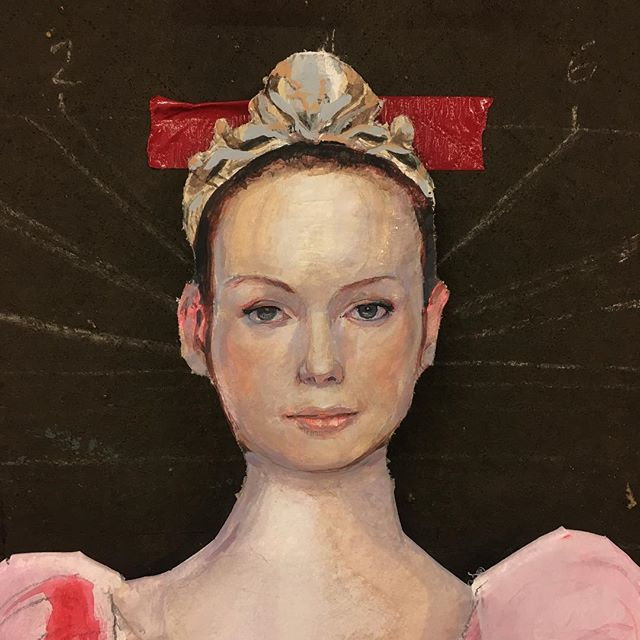 I have the good fortune of painting some of the props for The Nut Cracker production in Charlotte. This is a detail of a ballerina.  #artistsoninstagram #artstagram #art #artgallery #artnews #artwork #color #thenutcracker #nutcracker #scenicpainting #fineart #representationalart #onlineartgallery #oilpainting #paint #painting #portraiture #realism #contemporaryart #emergingart #emergingartist #artlovers  #catskills #upstateny
