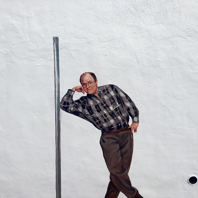 Just finished painting this small mural of Costanza. #festivusfortherestofus