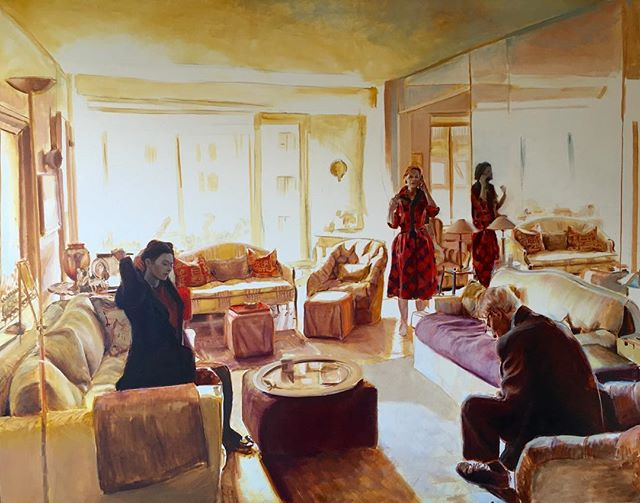 """My show """"Home"""" opens Friday September 21 at the DVAS gallery in Narrowsburg. This painting will be there. Will you?"""