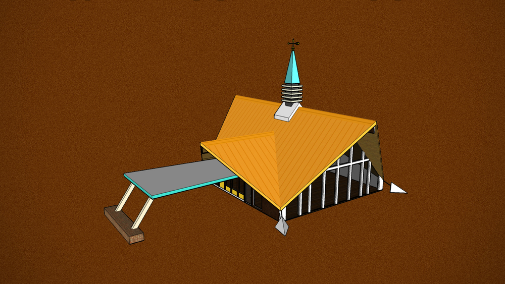We brought the iconic spire & orange roof to serve as beacon