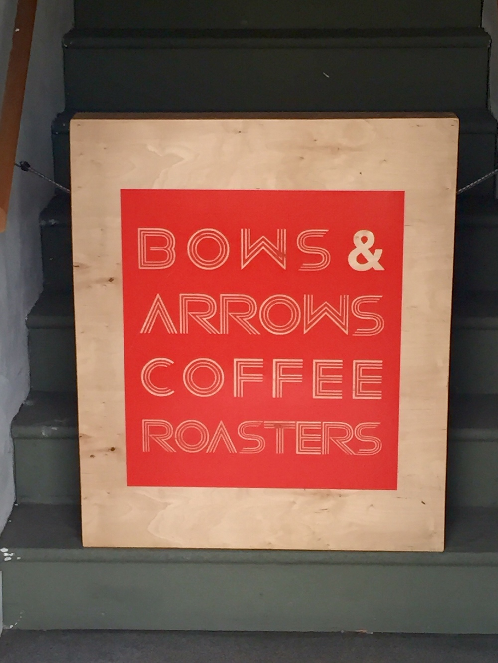 smallswell-bows-and-arrows-coffee-sign