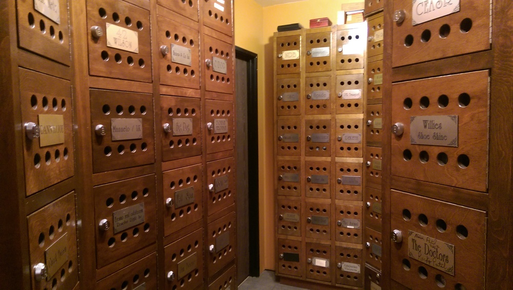 We have private lockers available to you if you want us to watch over your cigars.