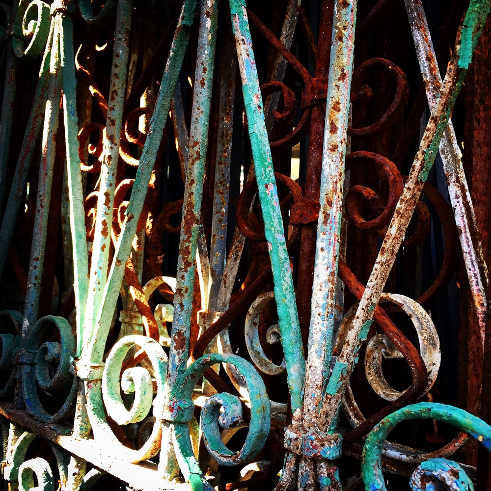 Green Wrought Iron Fence.JPG