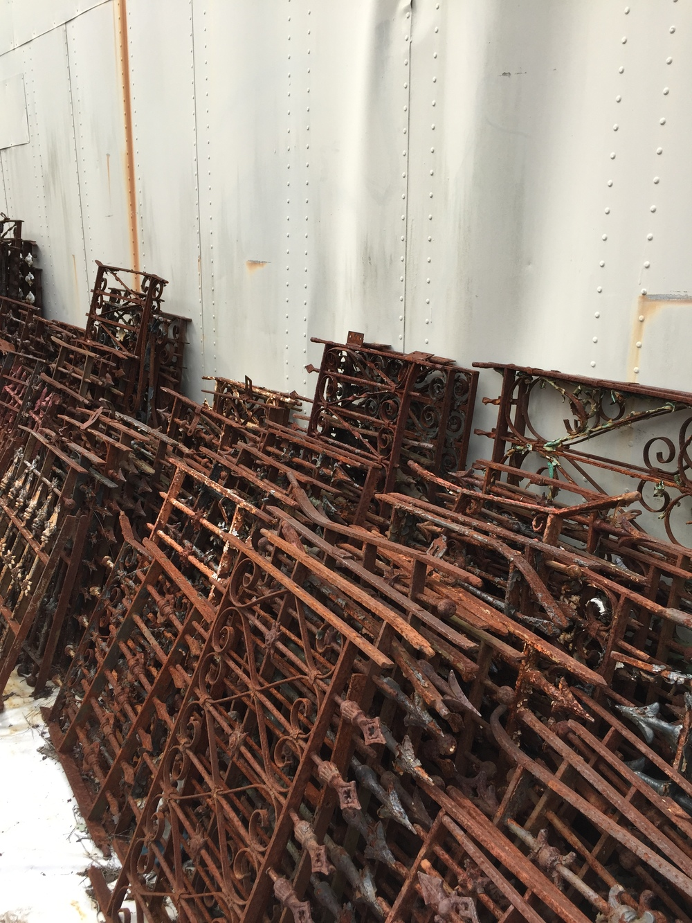 Yards of Iron Fencing.JPG
