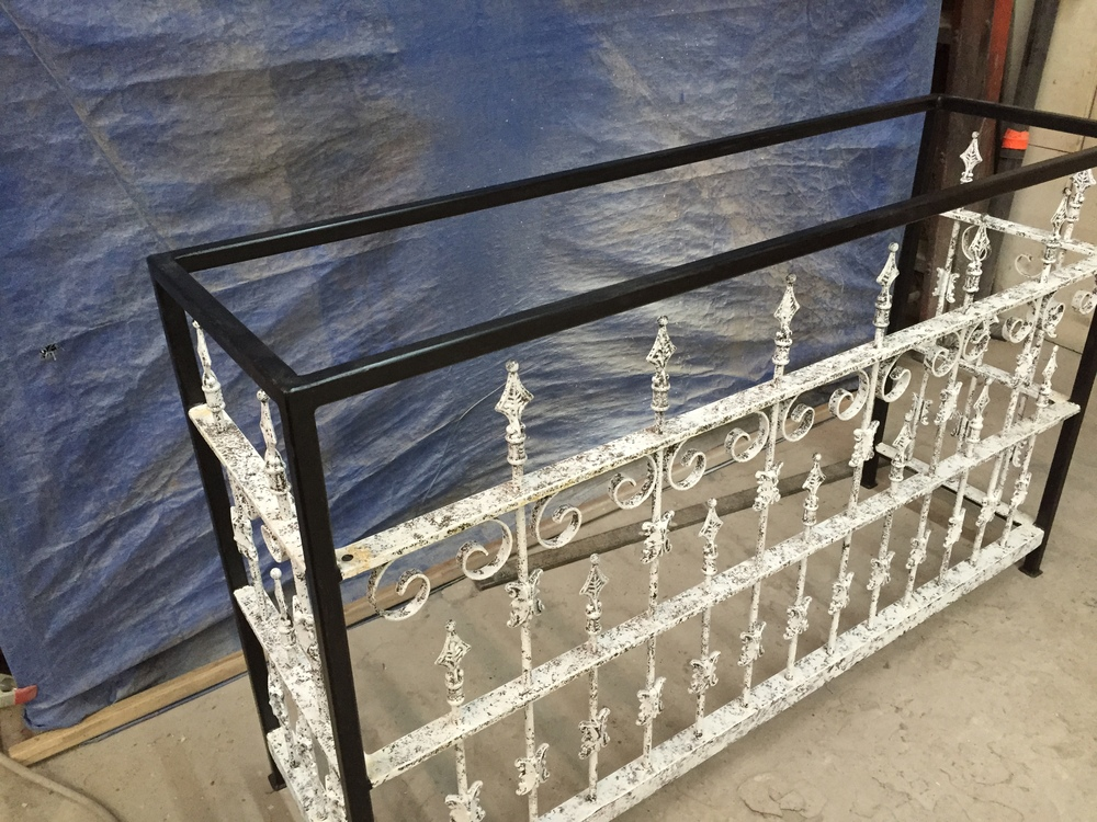 Governor's Antiques Originals Wrought Iron Console Table.JPG