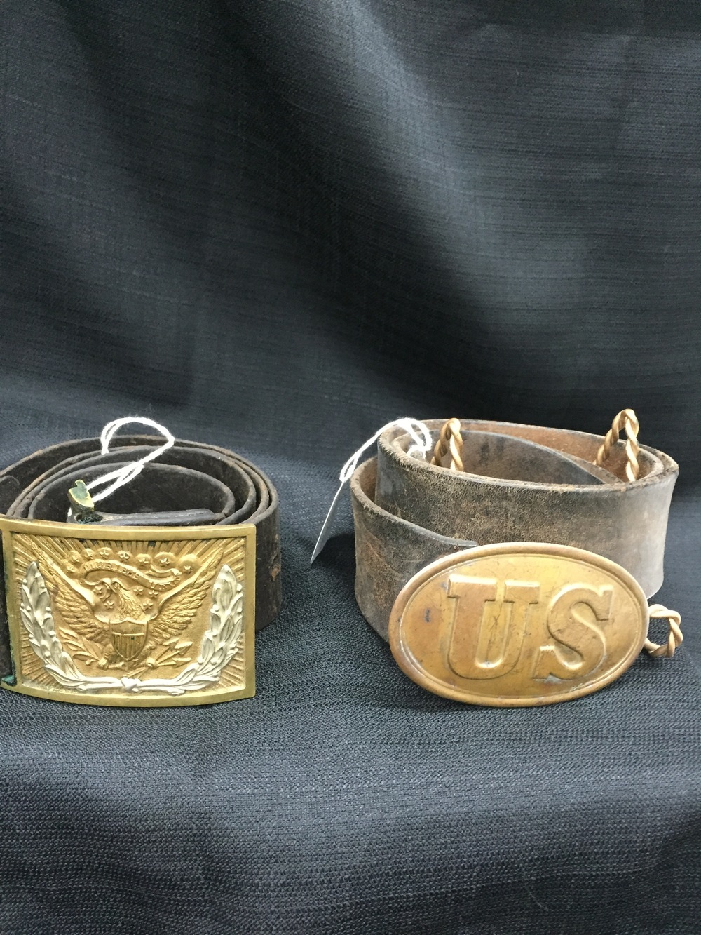 Civil War Brass Belt Buckles.JPG