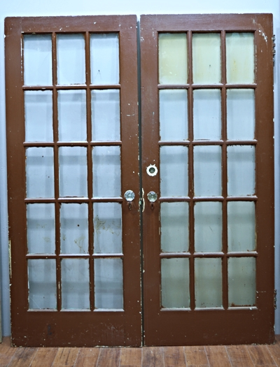Brown French Doors Small 9.jpg - Doors — Antiques & Architectural Salvage