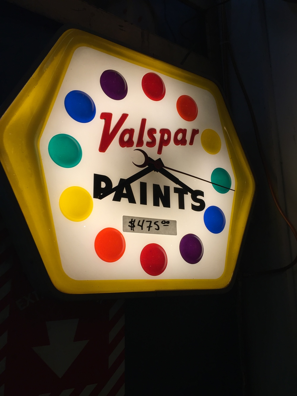 Valspar Paints Clock.JPG