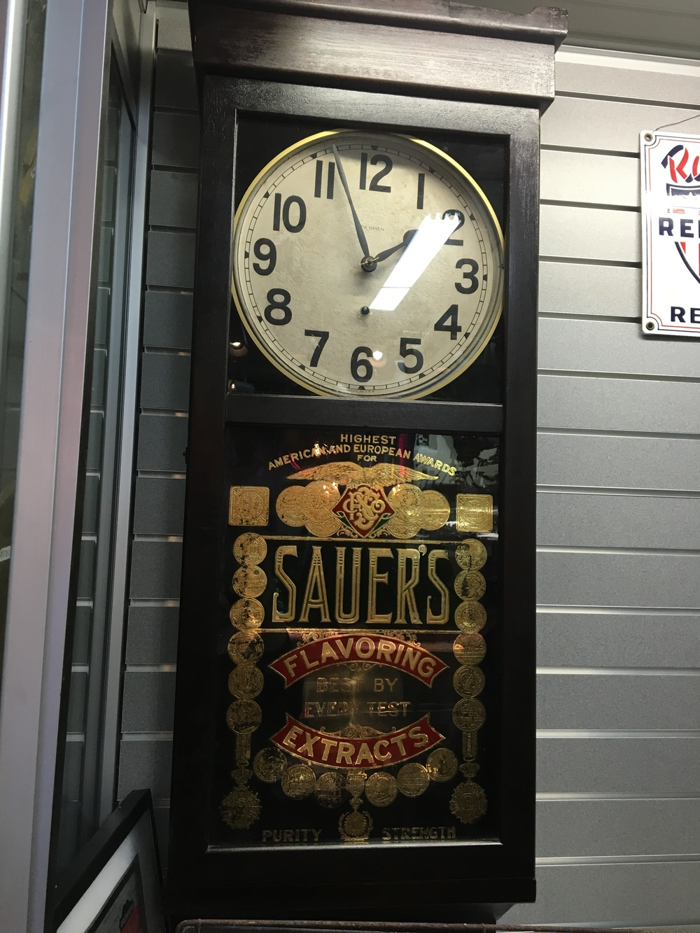 Sauers Advertising Clock.JPG