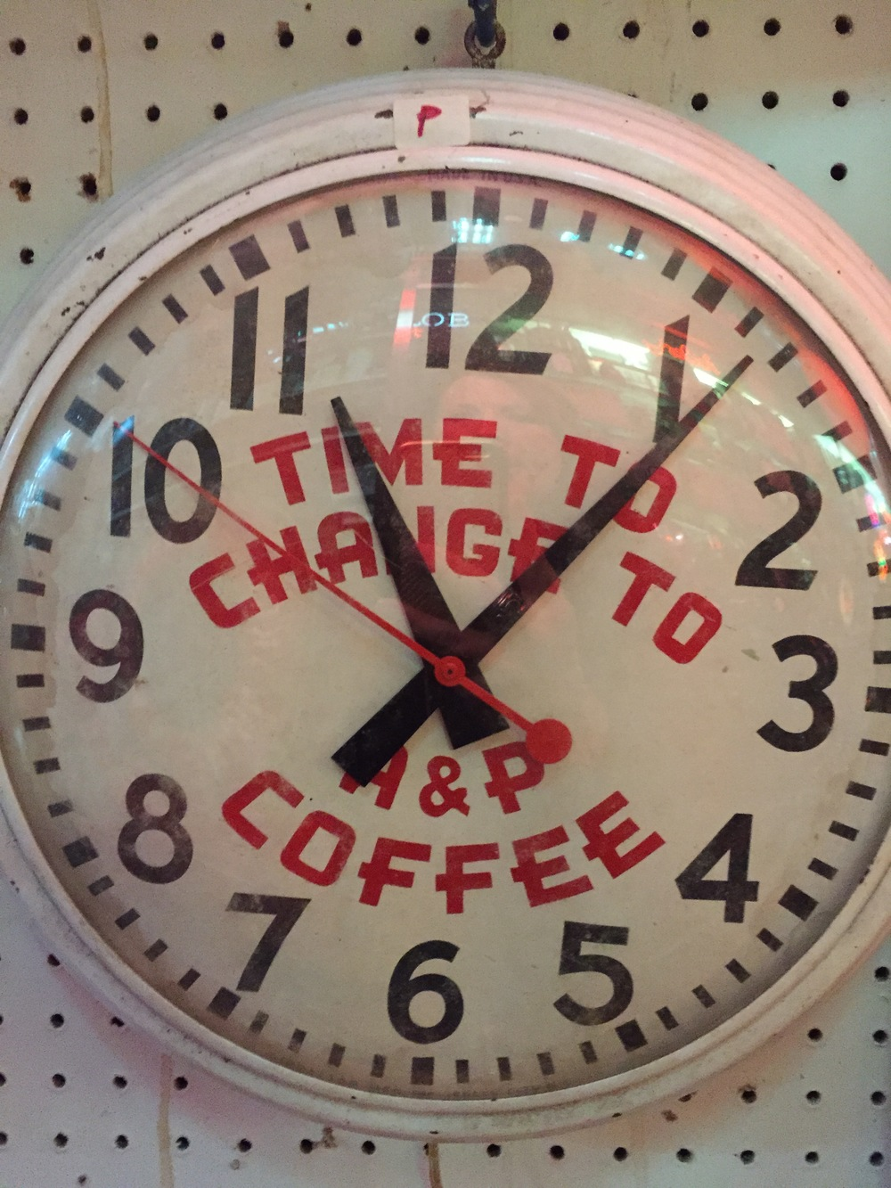A & P Coffee Clock.JPG