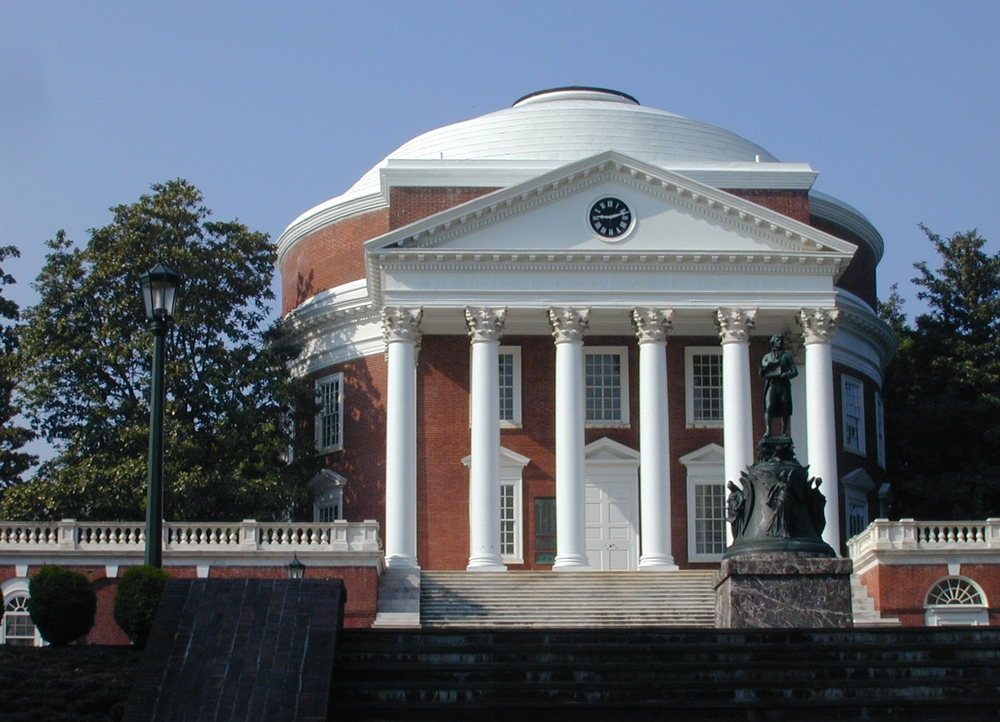Photo of Rotunda (pre-restoration) courtesy of UVA.