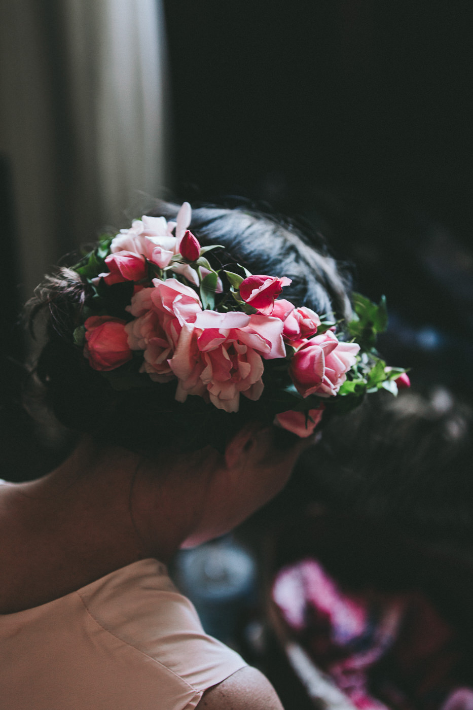 Floral crowns for the bridesmaids