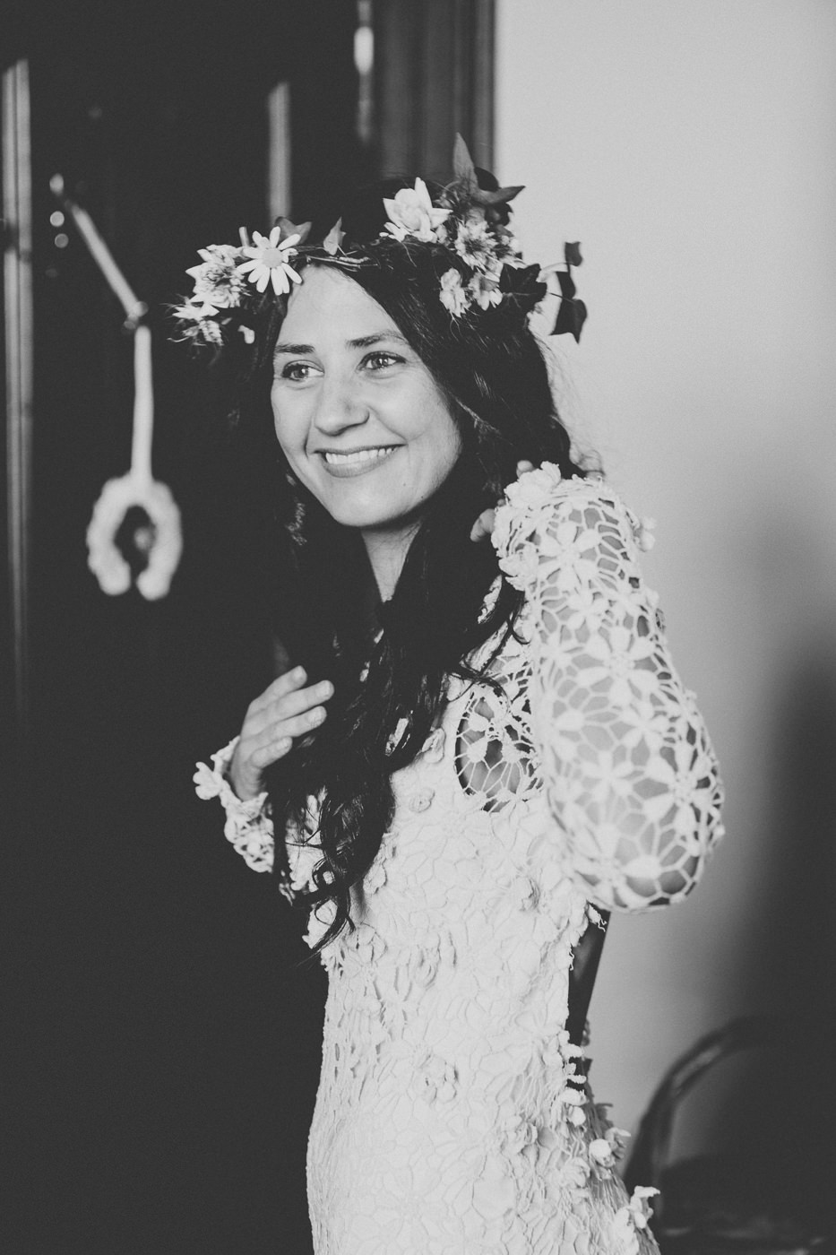 Bride with floral crown