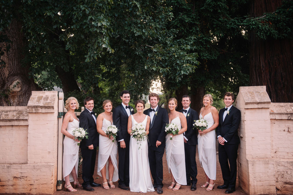 Entally Estate bridal party with Bouquets