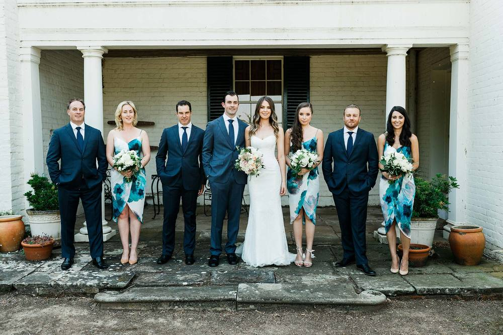 Bridal party at Brickendon homestead